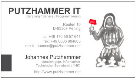 PUTZHAMMERIT-Visitenkarte